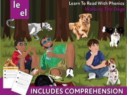 Reading Comprehension 'Walking The Dogs' (4-8 years)