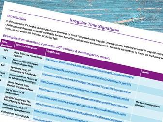 Listening bank: irregular time signatures