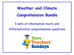 Weather and Climate Comprehension Bundle