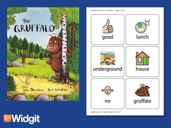 The Gruffalo - Big Book Flashcards with Widgit Symbols