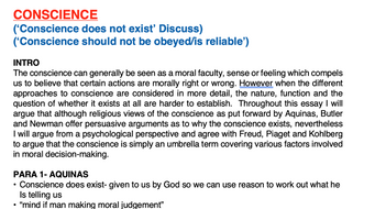 Conscience essay