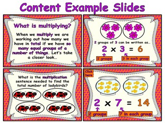 Beginning to Multiply - animated PowerPoint teaching resource and worksheets