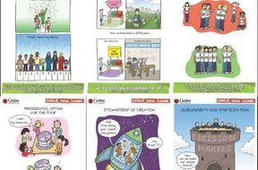 Catholic Social Teaching (CST) posters/cartoons from Caritas Australia