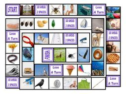 Phonics Long Vowel Sounds Photo Board Game