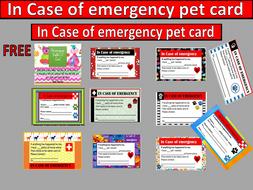 Pet I.D. cards