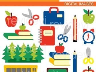 Schoolhouse School Learning Digital Clipart PU / CU Digital | Etsy