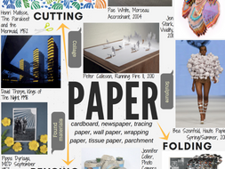 PAPER - GCSE ART theme mind-map interactive with artist links