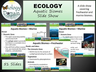 Aquatic Biomes Slide Show
