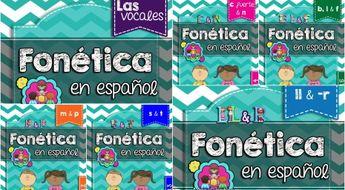 Spanish Phonics Super Bundle # 1: Sets 1-6