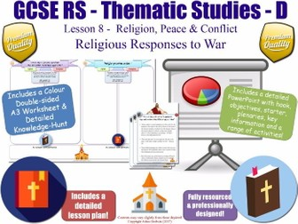 Religious Responses to War  [GCSE RS - Religion, Peace & Conflict L8/10] Charities & Peace-Makers