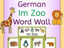 German Zoo Animals Im Zoo Word Wall
