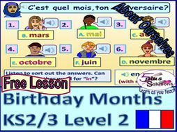 primary french lesson ks2 3 months saying what month your birthday is in by. Black Bedroom Furniture Sets. Home Design Ideas