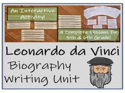 UKS2 Literacy - Leonardo da Vinci Biography Writing Unit