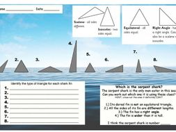 Types of triangle _ shark fin puzzle (mastery/deeper thinking maths)