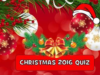 Christmas 2016 Quiz