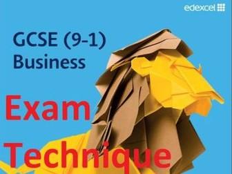 Exam Technique Guidance  - GCSE Edexcel Business