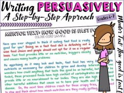Fast food persuasive essay