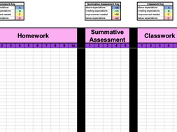 Teachers Classroom Data and Reporting Excel Sheet