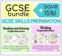 BUNDLE - SPANISH GCSE WRITING + READING and LISTENING SKILLS EXAM PRACTICE AND PREPARATION
