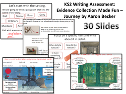 Key Stage Two Writing Assessment: Evidence Collection Made Fun – Journey by Aaron Becker KS2 SATs