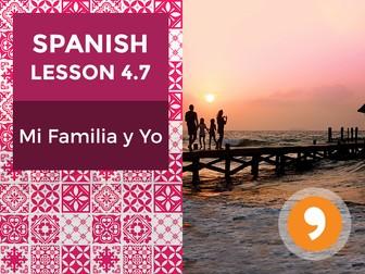 Spanish Lesson 4.7: Mi Familia y Yo - Independent Study