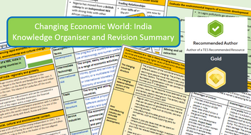GCSE AQA 9-1 : India Case Study, Economic World, Knowledge Organiser and Revision Summaries.