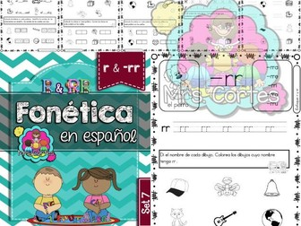 Spanish Phonics Book Set # 7: Letras r &-rr