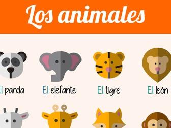 Poster - Spanish - Los animales