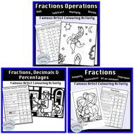 Fractions - Colour by Number Activity Bundle