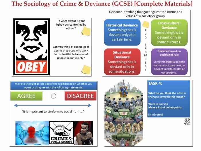 sociology essays crime deviance Crime and deviance from a sociological and psychological assessment: the sociology of deviance is the sociological study of deviant behavior, or the recognized violation of cultural norms.