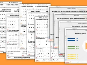 Year 4 Multiply 3 Numbers Spring Block 1 Step 2 Lesson Pack