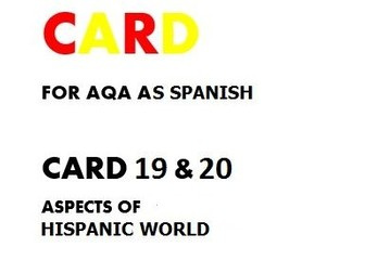 SPEAKING CARD 19 & 20 FOR AQA AS SPANISH (new specification)