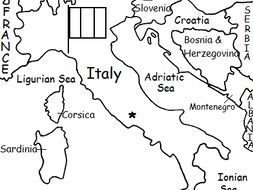 Map Of Italy Printable.Italy Printable Handout With Map And Flag By Tspeelman Teaching