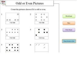 Odd and Even Pictures  (Early Years Maths)