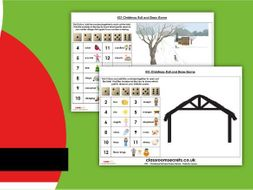 Christmas Roll and Draw KS1 Game Activity
