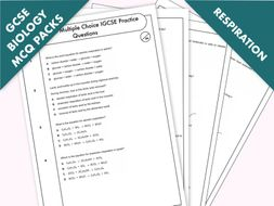 GCSE Biology: Multiple-Choice Topic Question Pack On Respiration