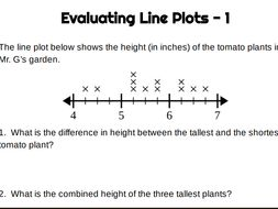 Practice with Line Plots using Fractions (4 pages of practice)