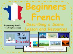 French lesson and resources - KS2 - Describing a Scene