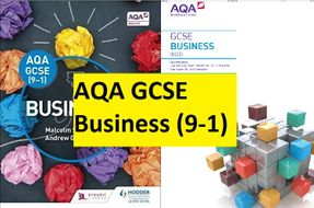 AQA GCSE 9-1 Business - Complete delivery bundle (all 6 units)