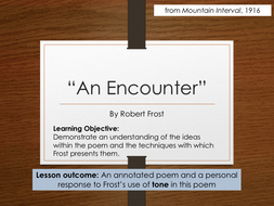 an encounter by robert frost analysis