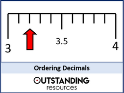Ordering Decimals and FDP Equivalents (+ worksheet)