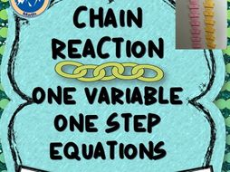 Chain Reaction One Step Equations