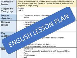 Information Page lesson plan (Upper KS2)