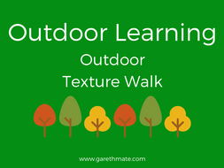 Outdoor Learning - Texture Walk