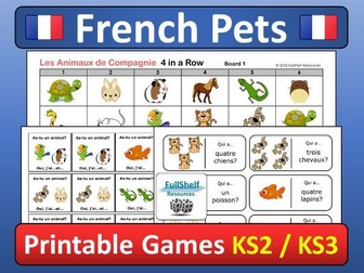 Pets in French (Les Animaux de Compagnie) Games
