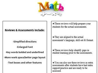 Grade 3, Math Module 2 REVIEW & ASSESSMENT w/Ans keys (printables & Smart Board)