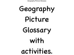 EAL Geography Picture Glossary Booklet with Activities