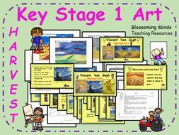 Key Stage 1 Harvest Festival Art Plan (3 lesson unit) - Van Gogh/Wheat/Bread