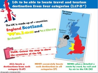 BTEC Travel and Tourism Unit 2_Learning Aim A Lessons