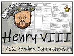 LKS2 History - Henry VIII Reading Comprehension Activity